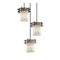 Justice Design Clouds 3 Light Pendant in Brushed Nickel CLD-8266-10-NCKL-BKCD