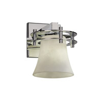 Clouds 1 Light 8 inch Polished Chrome Wall Sconce Wall Light in Round Flared