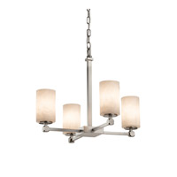 Justice Design Group Clouds LED Chandelier in Brushed Nickel CLD-8420-10-NCKL-LED4-2800