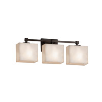Clouds 3 Light 24 inch Dark Bronze Vanity Light Wall Light in 7.25, LED, 23.5, Rectangle