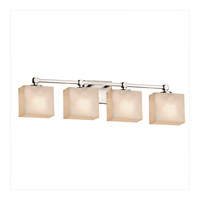 Clouds 4 Light 33 inch Brushed Nickel Vanity Light Wall Light in 7.25, LED, 32.5, Rectangle