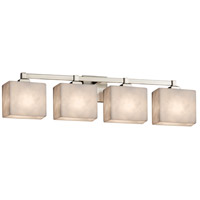 Justice Design CLD-8434-55-NCKL Clouds 4 Light 33 inch Brushed Nickel Bath Bar Wall Light in Rectangle Incandescent Rectangle