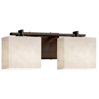Justice Design CLD-8442-55-DBRZ-LED2-1400 Clouds LED 16 inch Vanity Light Wall Light in 1400 Lm LED Dark Bronze Rectangle