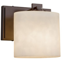 Justice Design CLD-8447-55-NCKL-LED1-700 Clouds LED 7 inch ADA Wall Sconce Wall Light in 700 Lm LED, Brushed Nickel, Rectangle
