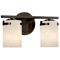 Justice Design CLD-8452-10-DBRZ-LED2-1400 Clouds LED 14 inch Vanity Light Wall Light in 1400 Lm LED Dark Bronze