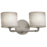 Justice Design CLD-8462-30-NCKL Clouds 2 Light 17 inch Brushed Nickel Bath Bar Wall Light, Oval