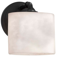 Justice Design CLD-8467-55-MBLK-LED1-700 Clouds LED 6 inch Matte Black ADA Wall Sconce Wall Light in 700 Lm LED, Rectangle