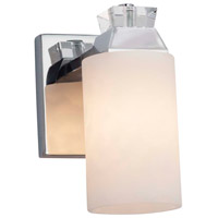 Justice Design CLD-8471-55-CROM Clouds 1 Light 6 inch Polished Chrome Wall Sconce Wall Light in Rectangle, Incandescent