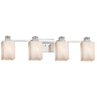 Justice Design CLD-8474-15-CROM Clouds Ardent 4 Light 33 inch Polished Chrome Bath Bar Wall Light