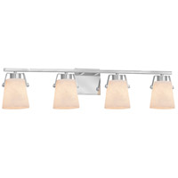 Justice Design CLD-8484-CROM Clouds Nexus 4 Light 34 inch Polished Chrome Bath Bar Wall Light