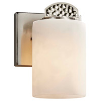 Justice Design CLD-8491-10-NCKL Clouds Malleo 1 Light 6 inch Brushed Nickel Wall Sconce Wall Light