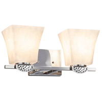 Justice Design CLD-8492-40-CROM Clouds Malleo 2 Light 15 inch Polished Chrome Bath Bar Wall Light