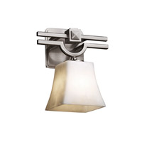 Clouds 1 Light 9 inch Brushed Nickel Wall Sconce Wall Light in Square Flared, Fluorescent