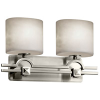 Justice Design CLD-8502-30-NCKL Clouds 2 Light 19 inch Brushed Nickel Bath Bar Wall Light in Oval Incandescent Oval