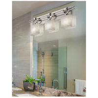 Justice Design CLD-8503-30-NCKL-LED3-2100 Clouds LED 29 inch Brushed Nickel Bath Bar Wall Light in 2100 Lm LED Oval