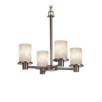 Justice Design Clouds Rondo 4-Light Chandelier in Brushed Nickel CLD-8510-10-NCKL
