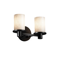 Justice Design Clouds Rondo 2-Light Bath Bar in Matte Black CLD-8512-10-MBLK