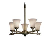 Justice Design Clouds Tradition 5-Light Chandelier in Antique Brass CLD-8520-20-ABRS