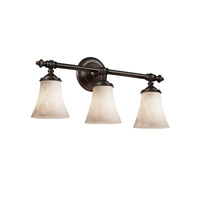 Justice Design Clouds Tradition 3-Light Bath Bar in Dark Bronze CLD-8523-20-DBRZ