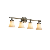 Justice Design Clouds Tradition 4-Light Bath Bar in Brushed Nickel CLD-8524-20-NCKL