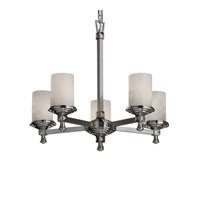 Justice Design Clouds Deco 5-Light Chandelier in Brushed Nickel CLD-8530-10-NCKL
