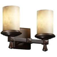 Justice Design Clouds Deco 2-Light Bath Bar in Dark Bronze CLD-8532-10-DBRZ
