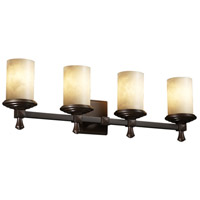 Justice Design Clouds Deco 4-Light Bath Bar in Dark Bronze CLD-8534-10-DBRZ