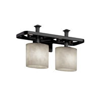 Justice Design Clouds Arcadia 2-Light Bath Bar in Matte Black CLD-8562-30-MBLK