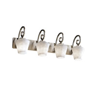 Justice Design Clouds Victoria 4-Light Bath Bar in Brushed Nickel CLD-8574-22-NCKL
