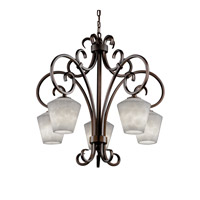 Justice Design Clouds Victoria 5-Downlight Chandelier in Dark Bronze CLD-8575-22-DBRZ