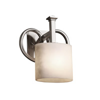 Justice Design Clouds Heritage 1-Light Wall Sconce in Brushed Nickel CLD-8581-30-NCKL