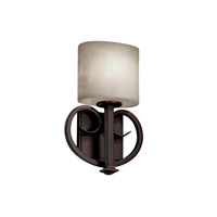 Justice Design CLD-8587-30-NCKL Heritage 1 Light 9 inch Brushed Nickel ADA Wall Sconce Wall Light in Oval, Fluorescent photo thumbnail