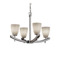 Justice Design Archway 4 Light Chandelier in Brushed Nickel CLD-8590-18-NCKL