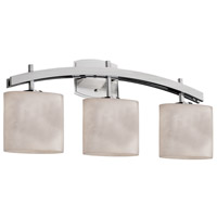 Justice Design CLD-8593-30-NCKL Clouds 3 Light 26 inch Brushed Nickel Bath Bar Wall Light in Oval Incandescent Oval