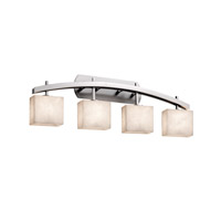 Clouds 4 Light 36 inch Brushed Nickel Vanity Light Wall Light in Rectangle, Fluorescent