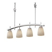 Justice Design Archway 4 Light Chandelier in Polished Chrome CLD-8599-18-CROM