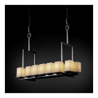 Justice Design Clouds Montana 14-Light Bridge Chandelier (Tall) in Brushed Nickel CLD-8664-15-NCKL