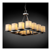 Justice Design Clouds Montana 12-Light Ring Chandelier (Short) in Brushed Nickel CLD-8668-15-NCKL