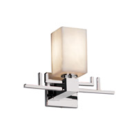 Justice Design Clouds Aero 1-Light Wall Sconce in Polished Chrome CLD-8701-15-CROM