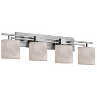 Clouds 4 Light 37 inch Brushed Nickel Bath Bar Wall Light in Oval, Fluorescent