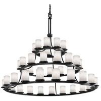 Justice Design CLD-8714-10-MBLK-LED45-31500 Clouds LED 60 inch Matte Black Chandelier Ceiling Light, Cylinder