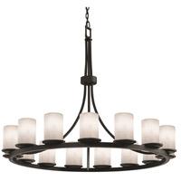 Justice Design CLD-8716-10-MBLK-LED21-14700 Clouds LED 60 inch Matte Black Chandelier Ceiling Light, Cylinder