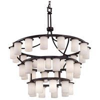 Clouds LED 42 inch Dark Bronze Chandelier Ceiling Light