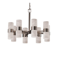 Justice Design CLD-8754-10-NCKL Clouds 16 Light Brushed Nickel Chandelier Ceiling Light photo thumbnail