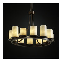 Justice Design Clouds Dakota 12-Light Ring Chandelier (Tall) in Dark Bronze CLD-8763-10-DBRZ