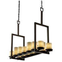 Justice Design Clouds Dakota 14-Light Bridge Chandelier (Tall) in Dark Bronze CLD-8764-10-DBRZ