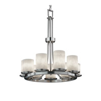 Clouds 9 Light 23 inch Brushed Nickel Chandelier Ceiling Light