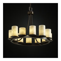 Justice Design Clouds Dakota 12-Light Ring Chandelier (Short) in Dark Bronze CLD-8768-10-DBRZ