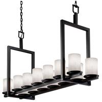 Justice Design CLD-8769-10-MBLK-LED14-9800 Clouds LED 13 inch Matte Black Chandelier Ceiling Light, Cylinder