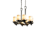 Clouds 8 Light 22 inch Brushed Nickel Chandelier Ceiling Light